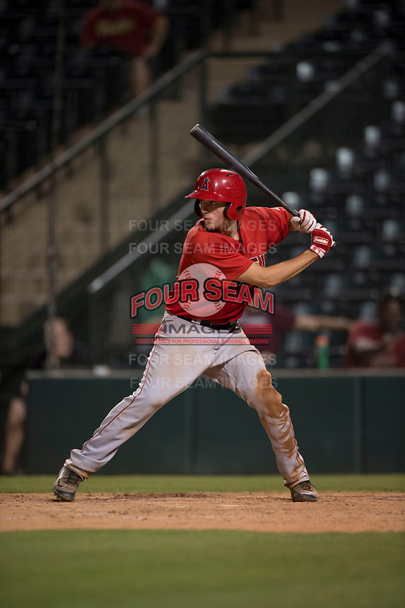 AZL Angels catcher David Clawson (7) at bat during an Arizona League game against the AZL Diamondbacks at Tempe Diablo Stadium on June 27, 2018 in Tempe, Arizona. The AZL Angels defeated the AZL Diamondbacks 5-3. (Zachary Lucy/Four Seam Images)