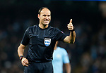 Referee Antonio Mateu Lahoz in action during the Champions League Quarter Final 2nd Leg match at the Etihad Stadium, Manchester. Picture date: 10th April 2018. Picture credit should read: David Klein/Sportimage