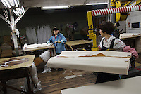 MAY 15, 2014 - KURASHIKI, JAPAN: Takeyari garment factory .  (Photograph / Ko Sasaki)