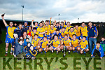Beaufort captain Ronan Murphy celebrates with his team mates after defeating Glenbeigh/Glencar in the Mid Kerry final in Killorglin on Sunday