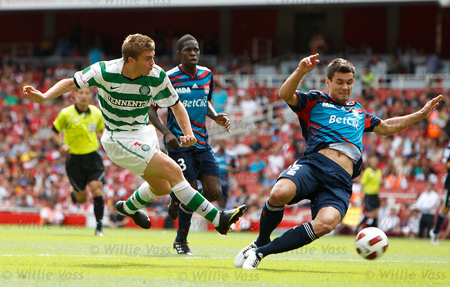 James Forrest cracks in a shot