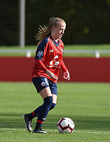 20181027 - CAMPHIN-EN-PEVELE , FRANCE : LOSC's Silke Demeyere pictured during the 8 th competition game between the women teams of Lille OSC and Montpellier Herault Sporting Club in the 2018-2019 season of the first Division - Ligue 1 at Domaine de Luchin , Saturday 27th Octobre 2018 ,  PHOTO Dirk Vuylsteke | Sportpix.Be