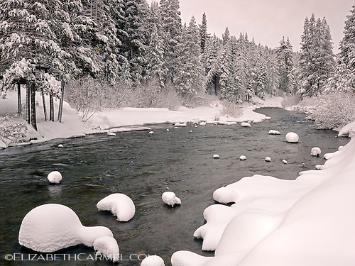 Snow Patterns, Truckee River