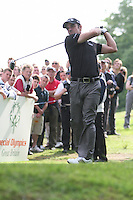 Paul McGinley tees off on the 17th hole during the 3rd round of the 2008 BMW PGA Championship at Wentworth Club, Surrey, England 24th May 2008 (Photo by Eoin Clarke/GOLFFILE)