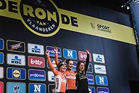 Women Elite Ronde van Vlaanderen 2018 podium <br /> <br /> 1. Anna van der Breggen (NED/Boels Dotmans)<br /> 2. Amy Pieters (NED/Boels Dotmans)<br /> 3. Annemiek Van Vleuten (NED/Mitchelton Scott)