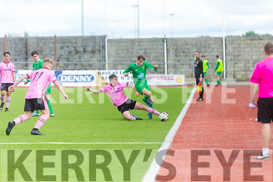 In Action at the SSE Airtricity U17 League Kerry V Wexford at Mounthawk Park on Sunday were Wexford's Derek Barrow and kerry's John Ward