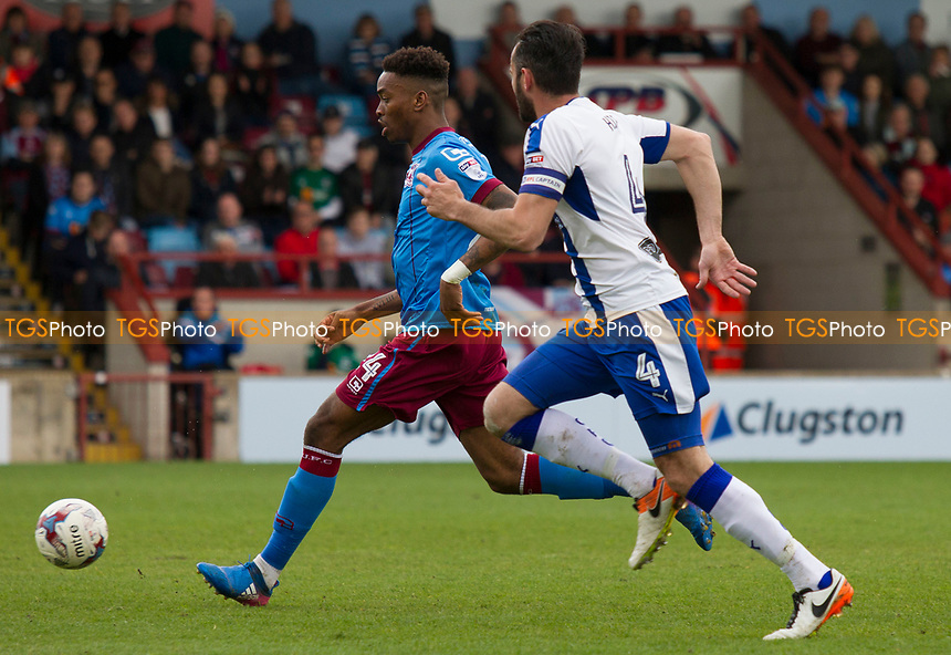 Ivan Toney of Scunthorpe during Scunthorpe United vs Chesterfield, Sky Bet EFL League 1 Football at Glanford Park on 17th April 2017
