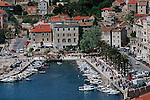 .Split town.Cruise in Croatia. Island of Dalmatia.