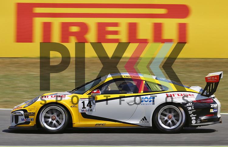 Barcelona, 10.05.15, Motorsport, Porsche Mobil 1 Supercup 2015 : Christian Engelhart (MRS GT-Racing, #14)<br /> <br /> Foto &copy; P-I-X.org *** Foto ist honorarpflichtig! *** Auf Anfrage in hoeherer Qualitaet/Aufloesung. Belegexemplar erbeten. Veroeffentlichung ausschliesslich fuer journalistisch-publizistische Zwecke. For editorial use only.
