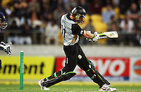 NZ's Martin Guptill gets trapped lbw during 2nd Twenty20 cricket match match between New Zealand Black Caps and West Indies at Westpac Stadium, Wellington, New Zealand on Friday, 27 February 2009. Photo: Dave Lintott / lintottphoto.co.nz