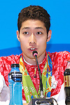 Kosuke Hagino (JPN), <br /> AUGUST 14, 2016 - Swimming : <br /> Medalist Swimming Japan team of Japan <br /> during the Press Conference <br /> for the Rio 2016 Olympic Games <br /> at Olympic village, in Rio de Janeiro, Brazil. <br /> (Photo by Sho Tamura/AFLO SPORT)