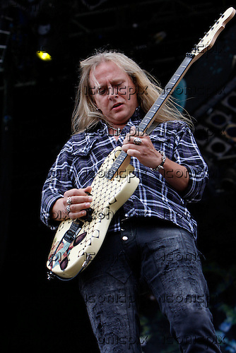 Alice In Chains - guitarist Gerry Cantrell performing live on Day Three on the Apollo Stage at the Sonisphere Festival Knebworth UK - 01 Aug 2010.  Photo credit: Zaine Lewis/IconicPix