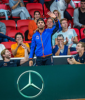The Hague, The Netherlands, September 15, 2017,  Sportcampus , Davis Cup Netherlands - Chech Republic, First rubber: Not playing because of an minjury but present to support his team US Open Doubles winner Jean-Julien Rojer (NED) <br /> Photo: Tennisimages/Henk Koster