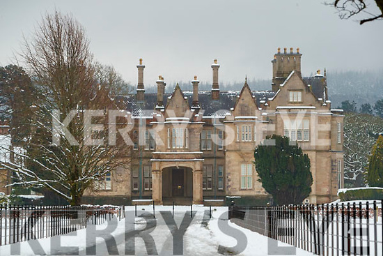 Snow at Muckross House in Killarney National Park, on Saturday last.