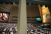 United States President Barack Obama addresses the 70th annual United Nations General Assembly at the UN headquarters September 28, 2015 in New York City. Obama will hold bilateral meetings with Indian Prime Minister Narendra Modi and Russian President Vladimir Putin later in the day. <br /> Credit: Chip Somodevilla / Pool via CNP