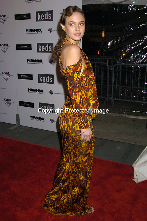 """Josie Maran ..at The New York Premiere of """"The Aviator"""" on December 14, 2004 at The Ziegfeld Theatre. ..Photo by Robin Platzer, Twin Images"""