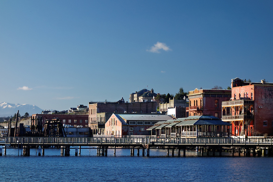 Port Townsend waterfront, Jefferson County, Washington, USA