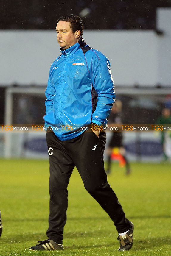 Guiseley manager Paul Cox during Dagenham & Redbridge vs Guiseley, Vanarama National League Football at the Chigwell Construction Stadium on 18th November 2017
