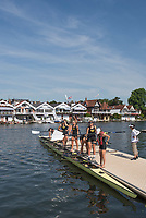 """Henley on Thames, United Kingdom, 6th July 2018, Friday, View, University of Washington, Boating for the Friday, Heat,  """"Third day"""", of the annual,  """"Henley Royal Regatta"""", Henley Reach, River Thames, Thames Valley, England, © Peter SPURRIER,"""