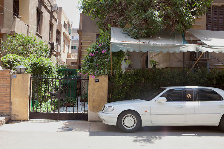 Egypt / Cairo / 12.7.2012 / Farid Eddib's car parked just outside his house in the Manial area of Cairo. Farid, 69 years old, is the ex-president Hosni Mubarak's lawyer. July 2012, Egypt.<br />