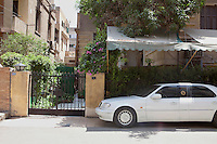 Egypt / Cairo / 12.7.2012 / Farid Eddib&rsquo;s car parked just outside his house in the Manial area of Cairo. Farid, 69 years old, is the ex-president Hosni Mubarak&rsquo;s lawyer. July 2012, Egypt.<br />
