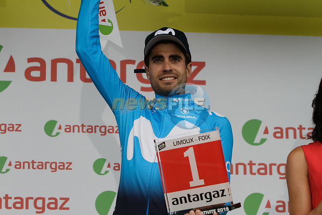 Mikel Landa (ESP) Movistar Team wins the days combativity prize at the end of Stage 15 of the 2019 Tour de France running 185km from Limoux to Foix Prat d'Albis, France. 20th July 2019.<br /> Picture: Colin Flockton | Cyclefile<br /> All photos usage must carry mandatory copyright credit (© Cyclefile | Colin Flockton)
