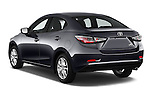 Car pictures of rear three quarter view of 2018 Toyota Yaris-iA AT 4 Door Sedan Angular Rear
