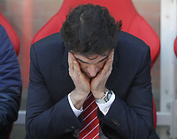 Nottingham Forest's Manager Mark Aitor Karanka<br /> <br /> Photographer Mick Walker/CameraSport<br /> <br /> The EFL Sky Bet Championship - Nottingham Forest v Preston North End - Saturday 8th December 2018 - The City Ground - Nottingham<br /> <br /> World Copyright © 2018 CameraSport. All rights reserved. 43 Linden Ave. Countesthorpe. Leicester. England. LE8 5PG - Tel: +44 (0) 116 277 4147 - admin@camerasport.com - www.camerasport.com