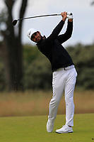 Shubhankar Sharma (IND) on the 1st during Round 2 of the Aberdeen Standard Investments Scottish Open 2019 at The Renaissance Club, North Berwick, Scotland on Friday 12th July 2019.<br /> Picture:  Thos Caffrey / Golffile<br /> <br /> All photos usage must carry mandatory copyright credit (© Golffile | Thos Caffrey)