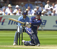 .13/07/2002.Sport - Cricket -NatWest Series Final- Lords.England vs India.Marcus Trescothick playing the sweep