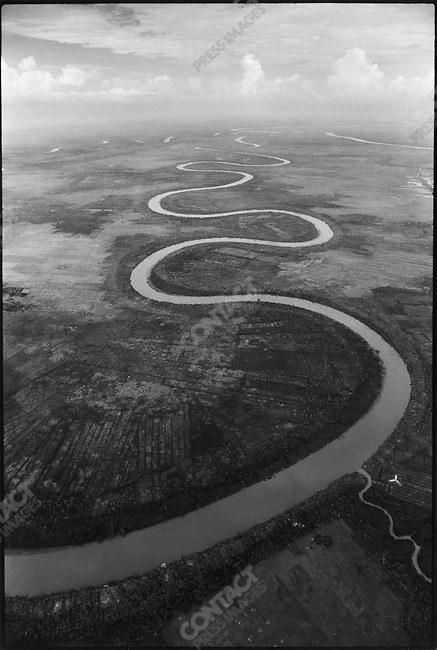 Curved river in I Corps near Quang Tri, South Vietnam April 1971