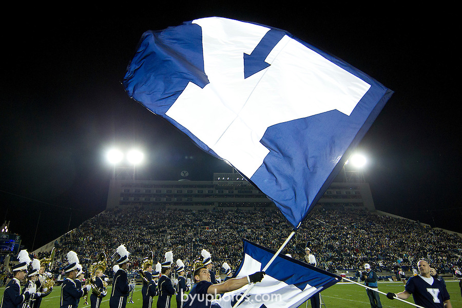 BYU defeats San Jose State 29-16 in Lavell Edwards Stadium on Saturday October 8, 2011..._3MP5850.jpg..11FTB vs San Jose State ..BYU - 29.SJS - 16..October 8, 2011..Photo by Mark A. Philbrick/BYU..© BYU PHOTO 2011.All Rights Reserved.photo@byu.edu  (801)422-7322