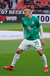 17.03.2019, BayArena, Leverkusen, GER, 1. FBL, Bayer 04 Leverkusen vs. SV Werder Bremen,<br />  <br /> DFL regulations prohibit any use of photographs as image sequences and/or quasi-video<br /> <br /> im Bild / picture shows: <br /> Maximilian Eggestein (Werder Bremen #35), beim Aufwaermen, Einzelaktion,  <br /> <br /> Foto © nordphoto / Meuter
