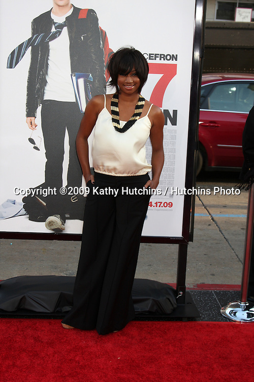 Monique Coleman  arriving at the 17 Again Premiere at Grauman's Chinese Theater in Los Angeles, CA on April 14, 2009.©2009 Kathy Hutchins / Hutchins Photo....                .