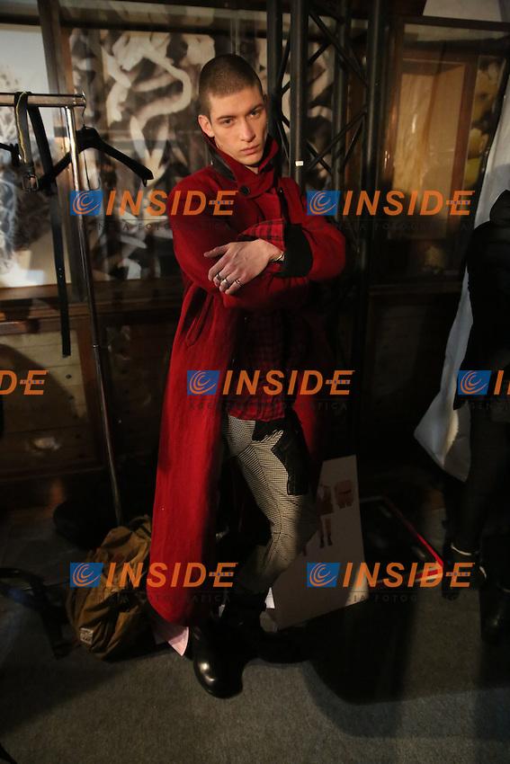 Parigi 18-01-2017 <br /> Backstage <br /> Settimana della moda di Parigi <br /> Moda Uomo <br /> Haider Ackermann <br /> Foto Stephane Chemin/Panoramic/Insidefoto