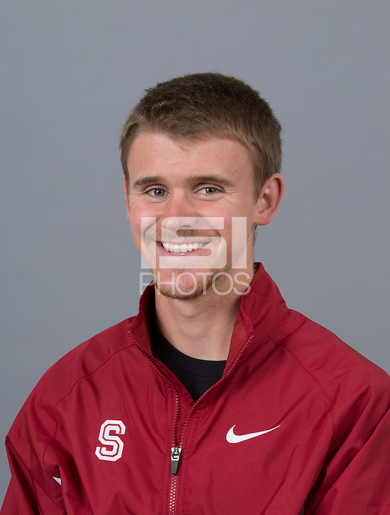 STANFORD, CA - SEPTEMBER 24, 2014--Patrick GIbson, with Stanford University Cross Country Team