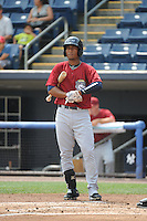 Mahoning Valley Scrappers infielder Robel Garcia (2) during game against the Staten Island Yankees at Richmond County Bank Ballpark at St.George on July 22, 2013 in Staten Island, NY.  Mahoning Valley defeated Staten Island 8-2.  Tomasso DeRosa/Four Seam Images