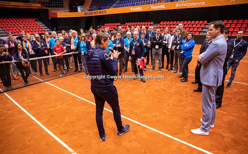 Den Bosch, The Netherlands, Februari 10, 2019,  Maaspoort , FedCup  Netherlands - Canada, Volunteers<br /> Photo: Tennisimages/Henk Koster