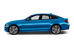 Car driver side profile view of a 2017 BMW 4 Series Gran Coupe M Sport 5 Door Hatchback