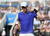 June 19th 2017, Queens Club, West Kensington, London; Aegon Tennis Championships, Day 1; Kyle Edmund of Great Britain looking dejected after looking another point versus Denis Shapovalov of Canada