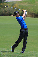 Marcus Kinhult (SWE) on the 1st during Round 4 of the HNA Open De France at Le Golf National in Saint-Quentin-En-Yvelines, Paris, France on Sunday 1st July 2018.<br /> Picture:  Thos Caffrey | Golffile