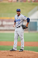 Pensacola Blue Wahoos starting pitcher Keury Mella (34) during a game against the Birmingham Barons on May 8, 2018 at Regions Field in Birmingham, Alabama.  Birmingham defeated Pensacola 5-2.  (Mike Janes/Four Seam Images)