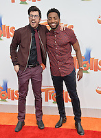 LOS ANGELES, CA. October 23, 2016: Actors Christopher Mintz-Plasse &amp; Shaun Brown at the Los Angeles premiere of &quot;Trolls&quot; at the Regency Village Theatre, Westwood.<br /> Picture: Paul Smith/Featureflash/SilverHub 0208 004 5359/ 07711 972644 Editors@silverhubmedia.com