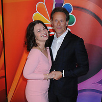 13 May 2019 - New York, New York - Fran Drescher and Steven Weber at the NBC 2019/2020 Upfront, at the Four Seasons Hotel. Photo Credit: LJ Fotos/AdMedia