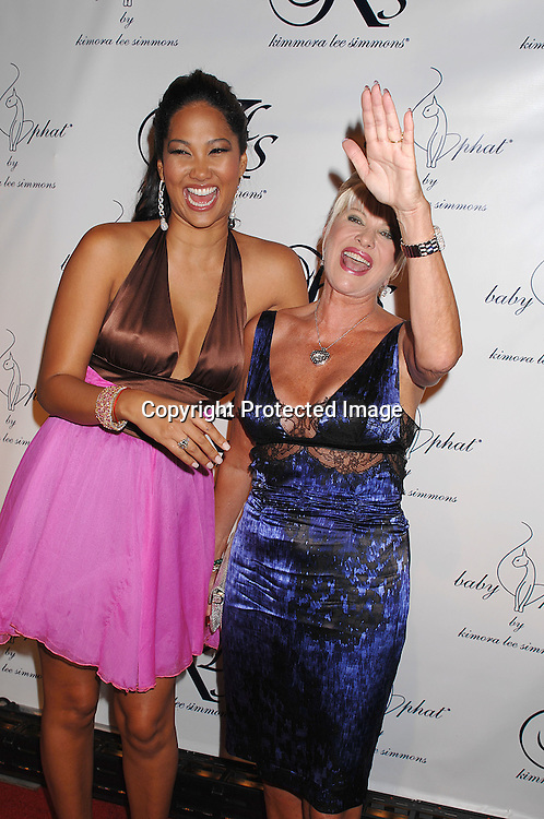 Kimora Lee Simmons and Ivana Trump..arriving at the after party for The Baby Phat Spring 2008 ..Fashion show on September 7, 2007 at Guastavinos in ..New York City. ..Photo by Robin Platzer, Twin Images....212-935-0770
