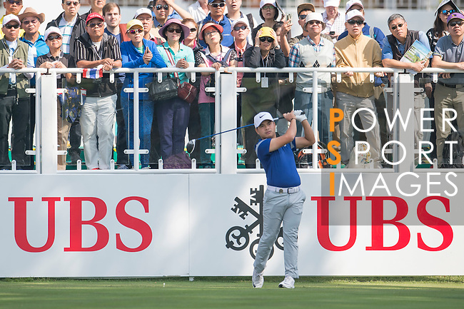 Miguel Tabuena of Philippines tees off the first hole during the 58th UBS Hong Kong Golf Open as part of the European Tour on 08 December 2016, at the Hong Kong Golf Club, Fanling, Hong Kong, China. Photo by Marcio Rodrigo Machado / Power Sport Images