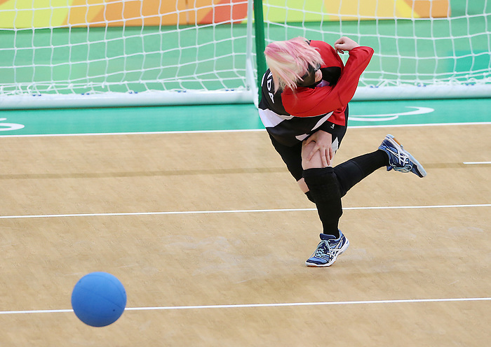 Rio de Janeiro-13/9/2016- Canadian women play Australia in goal ball at the Future Arena during the 2016 Paralympic Games in Rio. Photo Scott Grant/Canadian Paralympic Committee