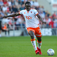 Blackpool's Daniel Agyei<br /> <br /> Photographer Alex Dodd/CameraSport<br /> <br /> The EFL Sky Bet League One - Rotherham United v Blackpool - Saturday 5th May 2018 - New York Stadium - Rotherham<br /> <br /> World Copyright &copy; 2018 CameraSport. All rights reserved. 43 Linden Ave. Countesthorpe. Leicester. England. LE8 5PG - Tel: +44 (0) 116 277 4147 - admin@camerasport.com - www.camerasport.com