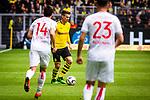 11.05.2019, Signal Iduna Park, Dortmund, GER, 1.FBL, Borussia Dortmund vs Fortuna Düsseldorf, DFL REGULATIONS PROHIBIT ANY USE OF PHOTOGRAPHS AS IMAGE SEQUENCES AND/OR QUASI-VIDEO<br /> <br /> im Bild | picture shows:<br /> Lukasz Piszczek (Borussia Dortmund #26) mit Markus Suttner (Fortuna #14) und Niko Giesselmann (Fortuna #23), <br /> <br /> Foto © nordphoto / Rauch