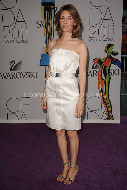 WWW.ACEPIXS.COM . . . . . .June 6, 2011...New York City.....Sofia Coppola attends the 2011 CFDA Fashion Awards at Alice Tully Hall, Lincoln Center on June 6, 2011 in New York City......Please byline: KRISTIN CALLAHAN - ACEPIXS.COM.. . . . . . ..Ace Pictures, Inc: ..tel: (212) 243 8787 or (646) 769 0430..e-mail: info@acepixs.com..web: http://www.acepixs.com .